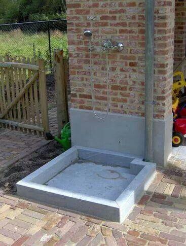 Dog Bath Area Dog Washing Station Dog Area Backyard