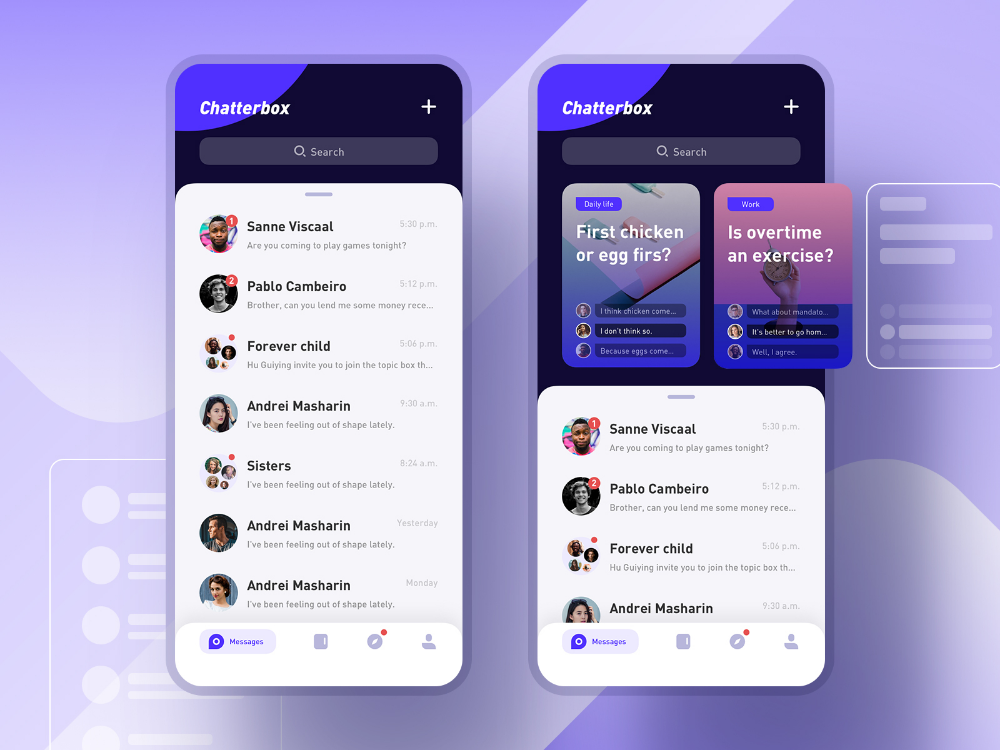 Chatterbox App App Design Layout Chat App
