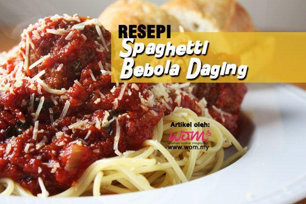Spaghetti Bebola Daging Homemade Tomato Sauce Other Meat Recipes Spaghetti And Meatballs