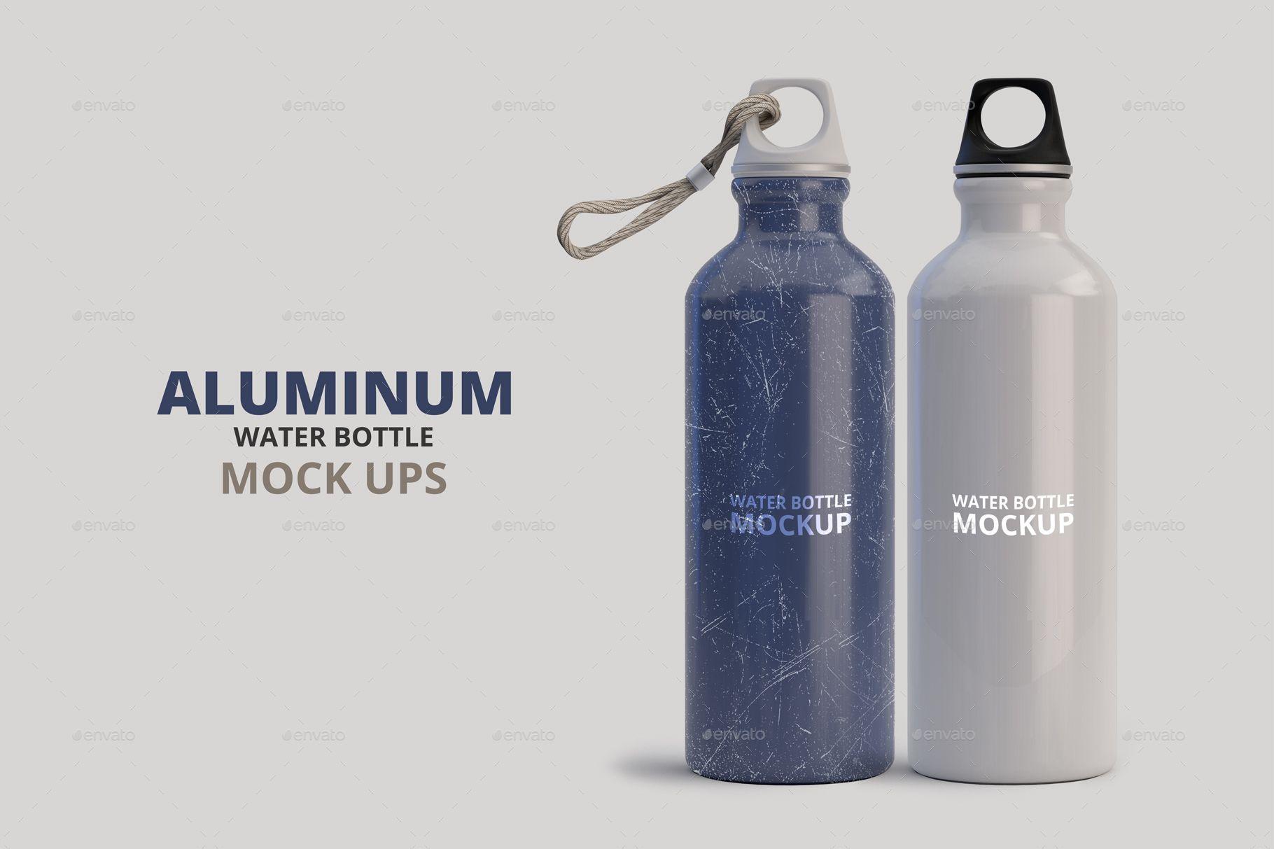1fc9115df2dea Aluminum Water Bottle Mockup #Ad #Bottle, #spon, #Mockup, #water ...