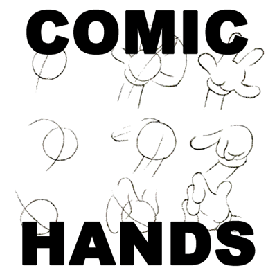 How to draw cartoon comic hands with easy step by step cartooning tutorials