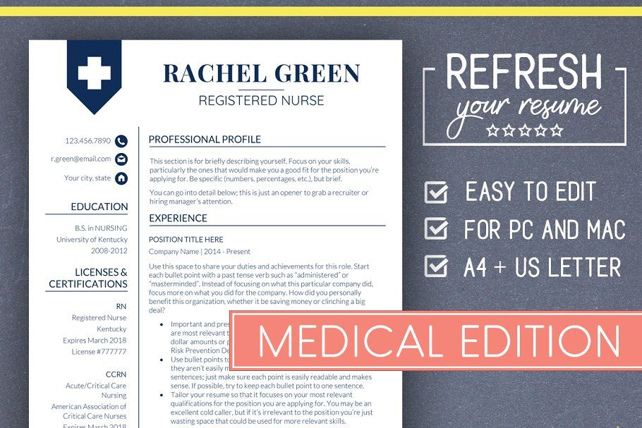 Medical resume template nurse resume medical resume