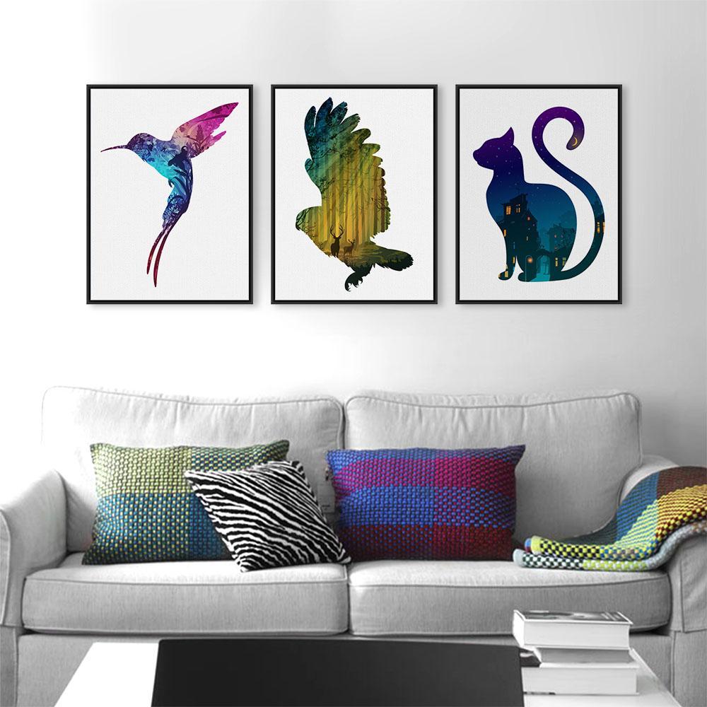 Elephant Wall Art A4 Canvas Print Interior Design