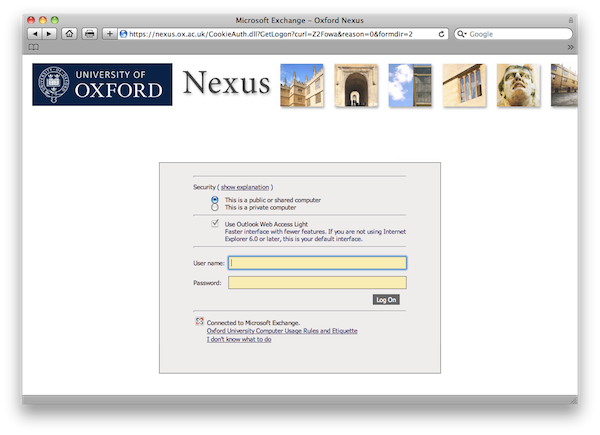 The Oxford Username And Single Sign On Webauth It Services