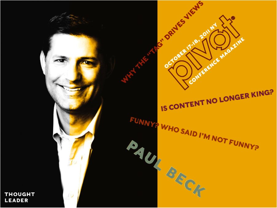 Paul Beck in #zinio's living magazine for pivot 2011.