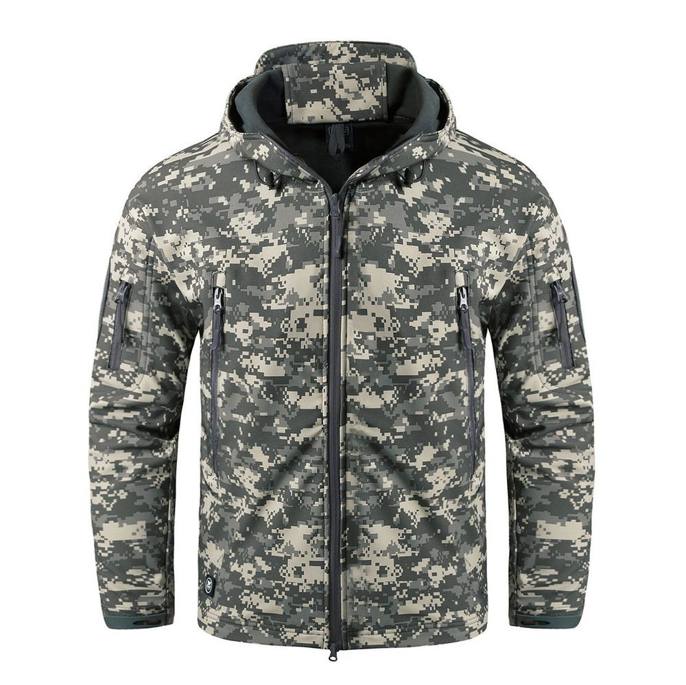 6a181c8759aef CRYSULLY Men's Outdoor Climbing Windproof Tactical Soft Shell Jacket ...