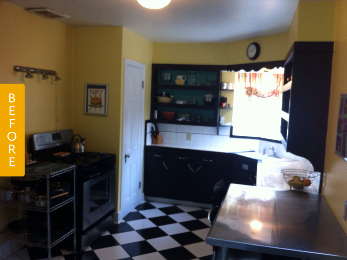 before  after a quirky kitchen gets a farmhouse makeover
