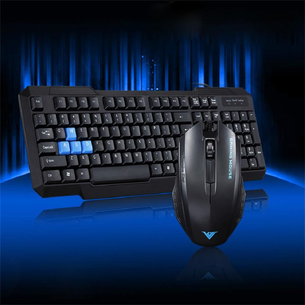 Wired Keyboard Mouse Suit Multimedia Waterproofed