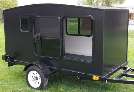 Camper Trailer Mini Camper Toy Hauler Wonadaygo 4 X 8 Black 1 2