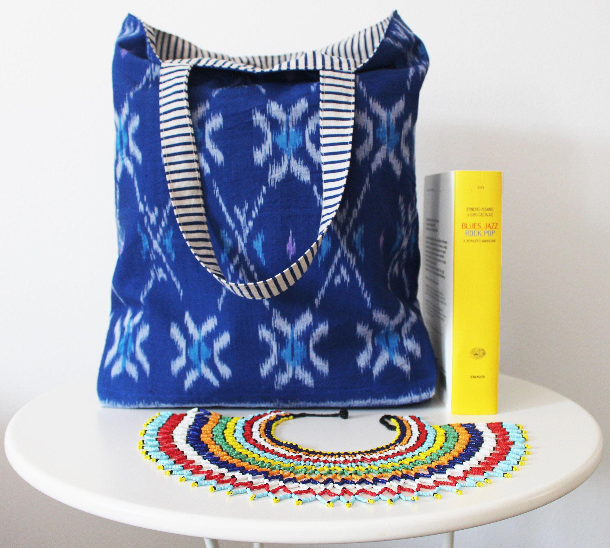 Borse uniche fatte a mano double face!  Create con tessuti italiani uniti a tessuti provenienti dalla Tailandia, dall'Africa e dal'Indonesia.   OKRA - for bags lovers!