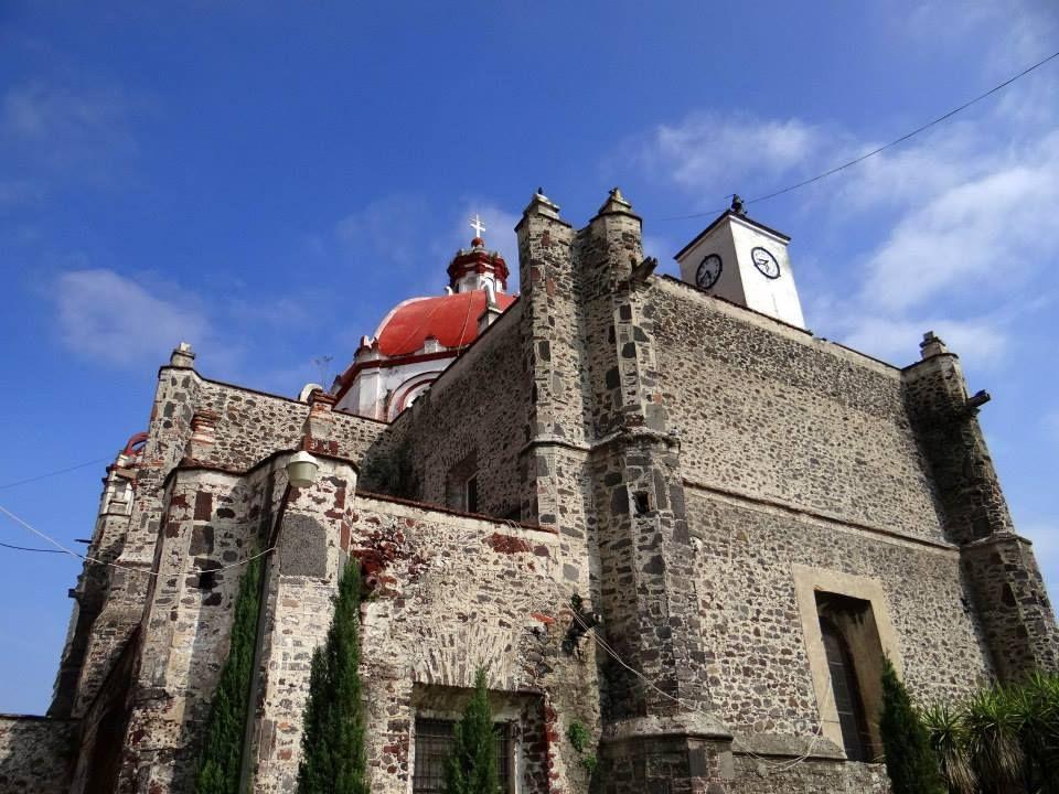 Fotografía de Manuel Vega, Cúpula y Reloj Parroquia del Divino Salvador en Tizayuca, Hgo.