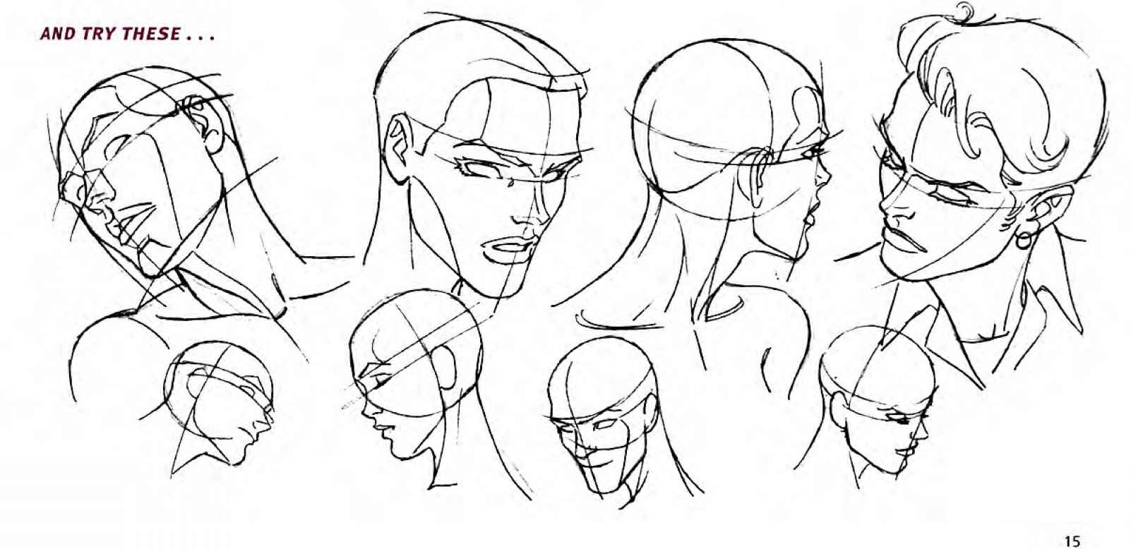 Male Face Different Angles Head Tilts And Turns Drawing Comics Joshua Nava Arts Face Artwork Drawings Figure Drawing Poses