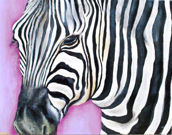 Zebra schilderij acrylverf op canvas 50x60cm door sandraschilderijen zebra schilderij acrylverf op canvas 50x60cm door sandraschilderijen 14000 painting etsy thecheapjerseys Gallery