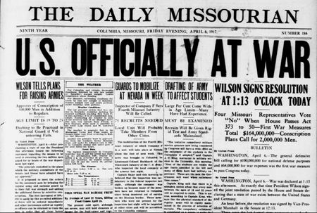Picture 12 The United States declares war on Germany The day after ...