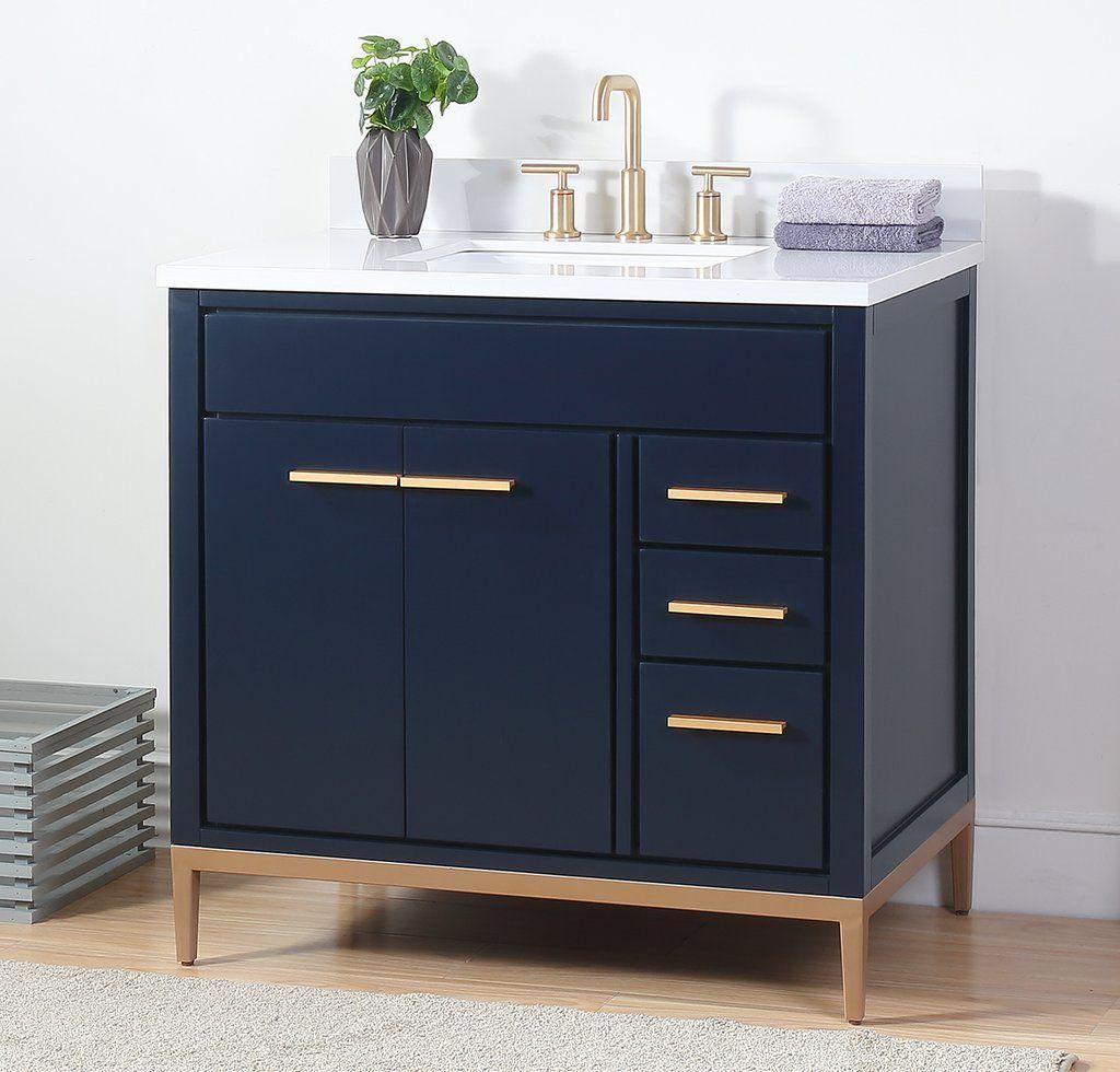 36 With Images Bathroom Sink Vanity Blue Bathroom Vanity