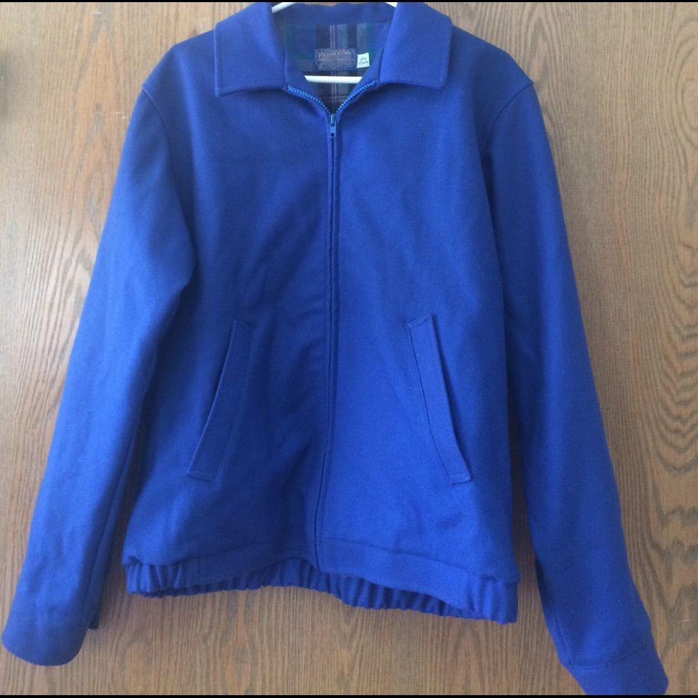 Pendleton Cobalt Blue Wool Jacket