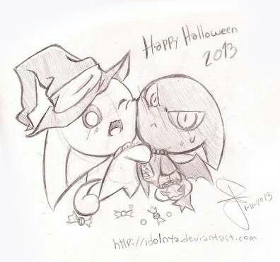Idol & Idolo festejando juntos halloween