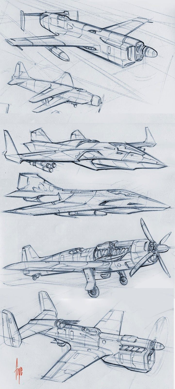 Velocity in 2d planes and jets sketches