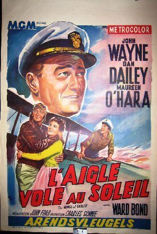 L'aigle Vole Au Soleil : l'aigle, soleil, Wings, Eagles, L'aigle, Soleil, Vintage, Movie, Poster, Wayne,, Meme,