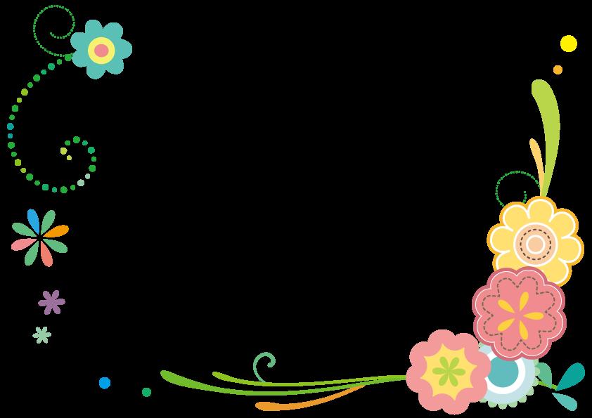 春花のフレーム 花 フレーム フラワーカード 飾り枠無料