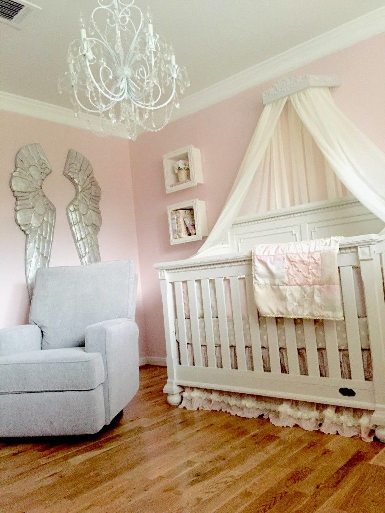 A Pink and Grey Nursery that Soothes and Calms a Princess ...