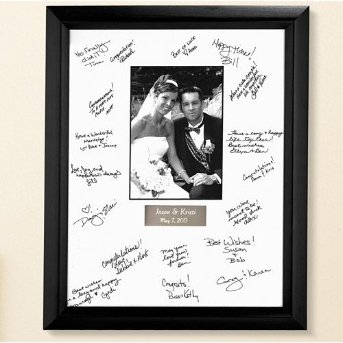 The Best Teacher Gifts To Thank Them For Putting Up With Your Kid All Year Long Signature Picture Frame Wedding Frames Wedding Picture Frames