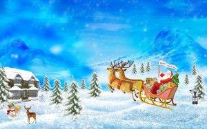 Babbo Natale X Desktop.Sfondi Natale Christmas Per Desktop Cartolina Buon Natale