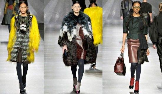 mixing garments, | Fendi-womens-fashion-fall-winter-20122013-1/love the pop of yellow