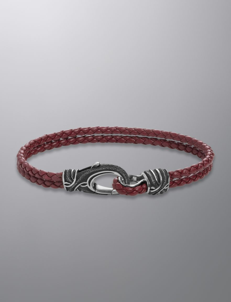 We Love Layering Especially With David Yurman Bracelets Like This Armory Bracelet In Red Leather At Brown Co Jewelers