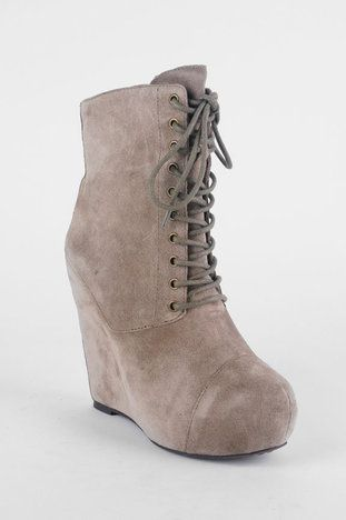 a5465e104 Steve Madden Steven - Nelley Suede Wedge Boots in Taupe  58 at www.tobi.com