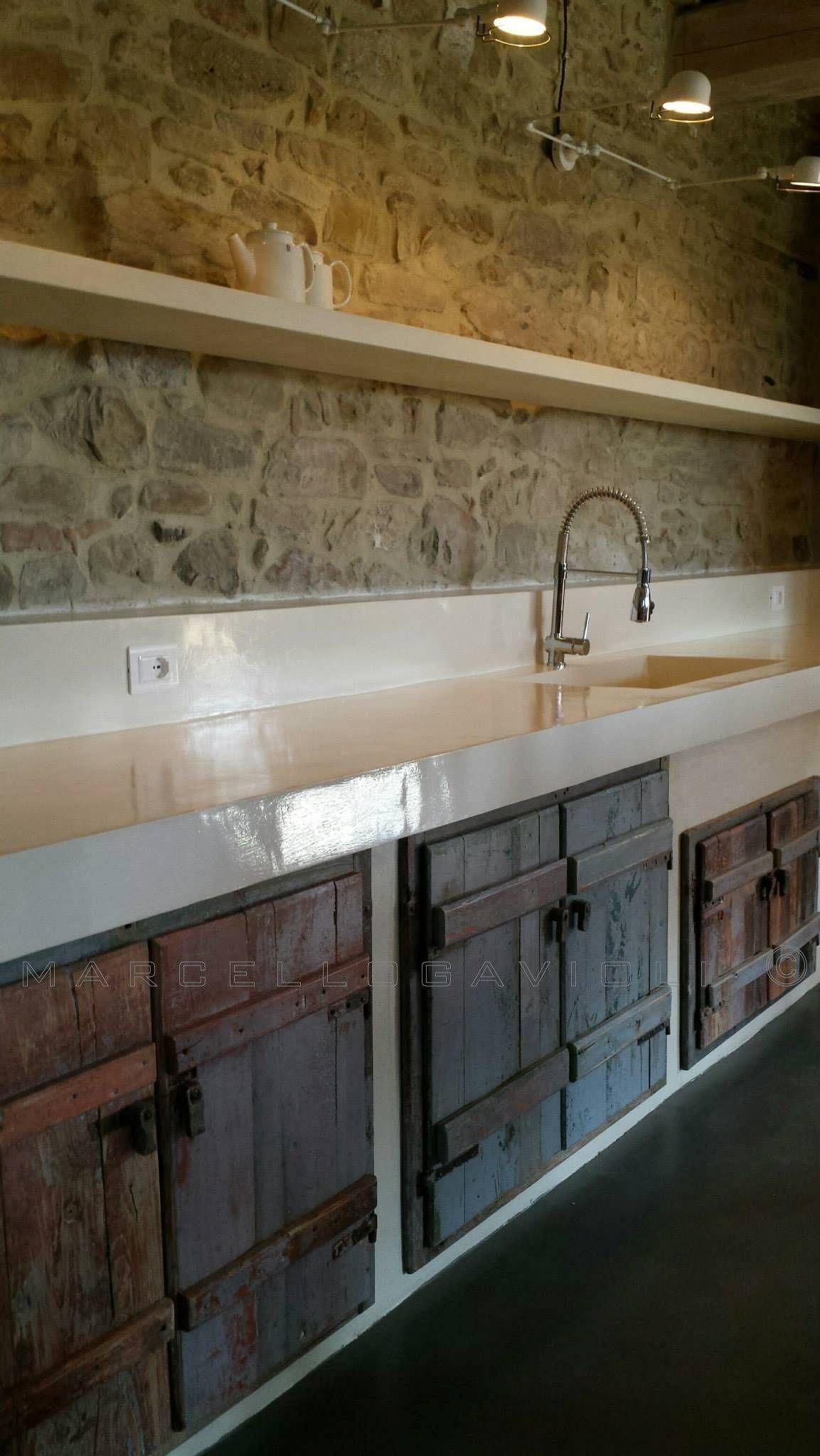 Biomalta ral 7010 grigio tenda cucina in stile rustico di ...