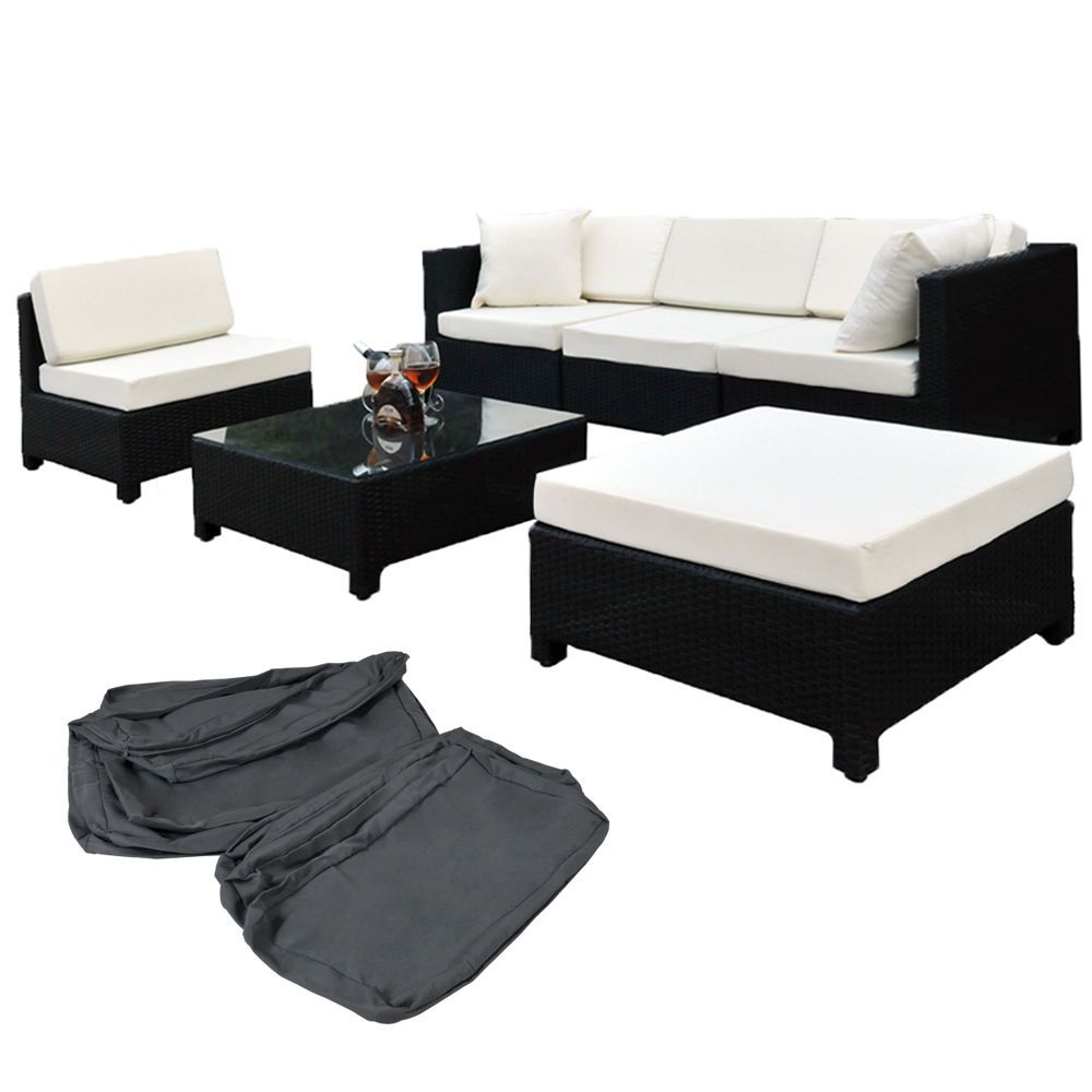 Poliratán aluminio conjunto tresillo muebles de ratán conjunto para ...