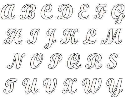 Printables Scrapbook Letters Blogg Da Mirian 4 Moldes Do Alfabeto Completo Para Voce Pintar O Nome Que Desejar