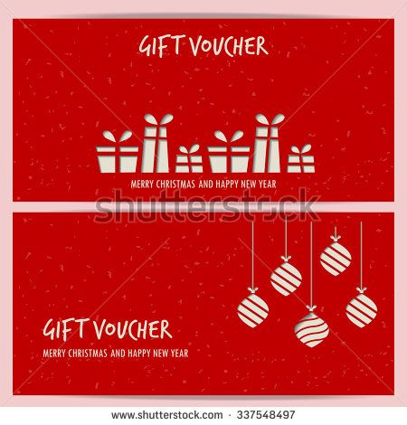 christmas and new year gift voucher certificate coupon template - business coupon template