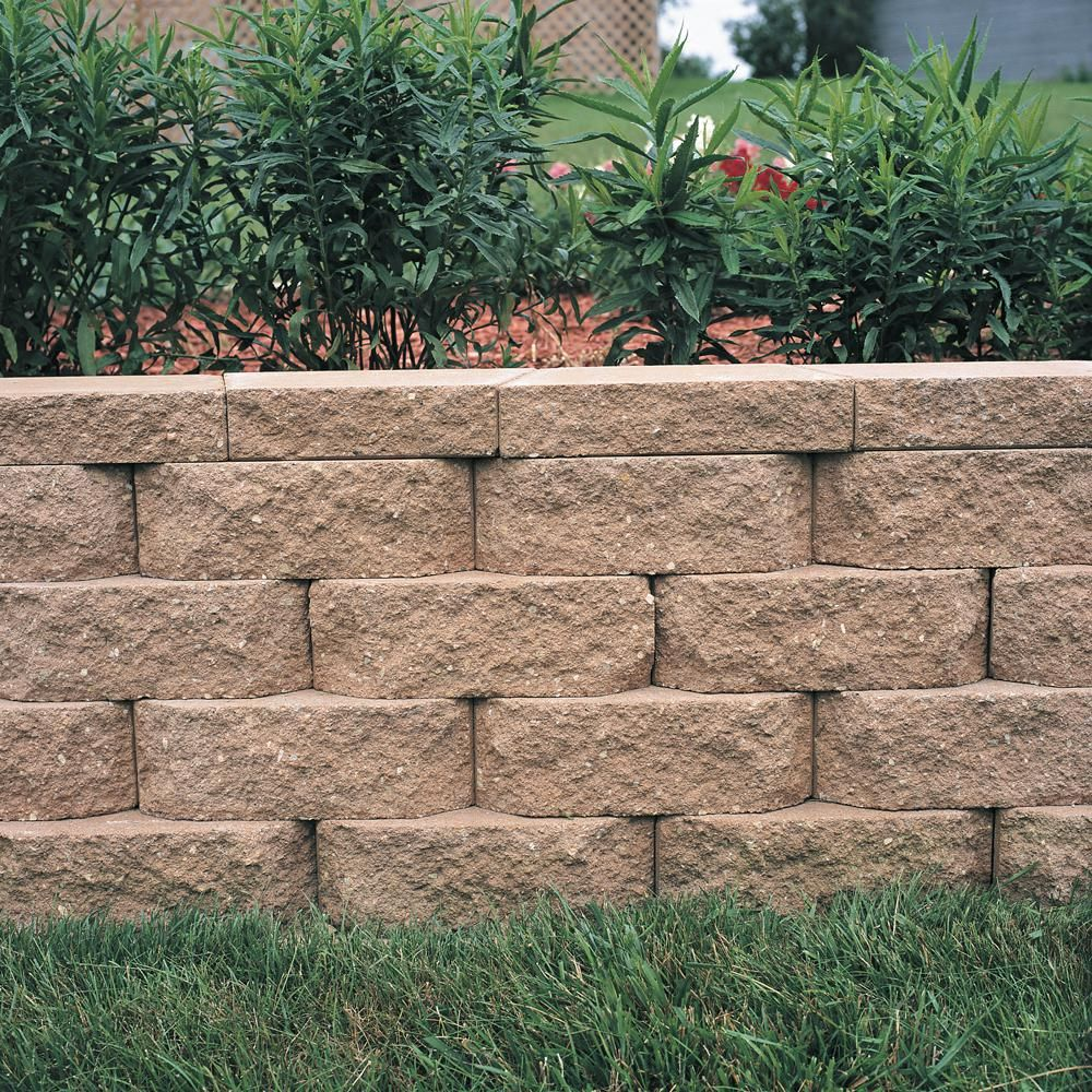 Pavestone 4 In X 11 75 In X 6 75 In San Diego Tan Concrete Retaining Wall Block 144 Pieces 46 6 Sq Ft Pallet 81175 The Home Depot Landscaping Retaining Walls Concrete Retaining Walls Backyard Retaining Walls