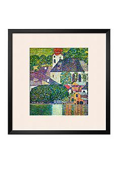 Art.com Kirche in Unterach am Attersee, Church in Unterach on Attersee Framed Giclee Print - Online Only