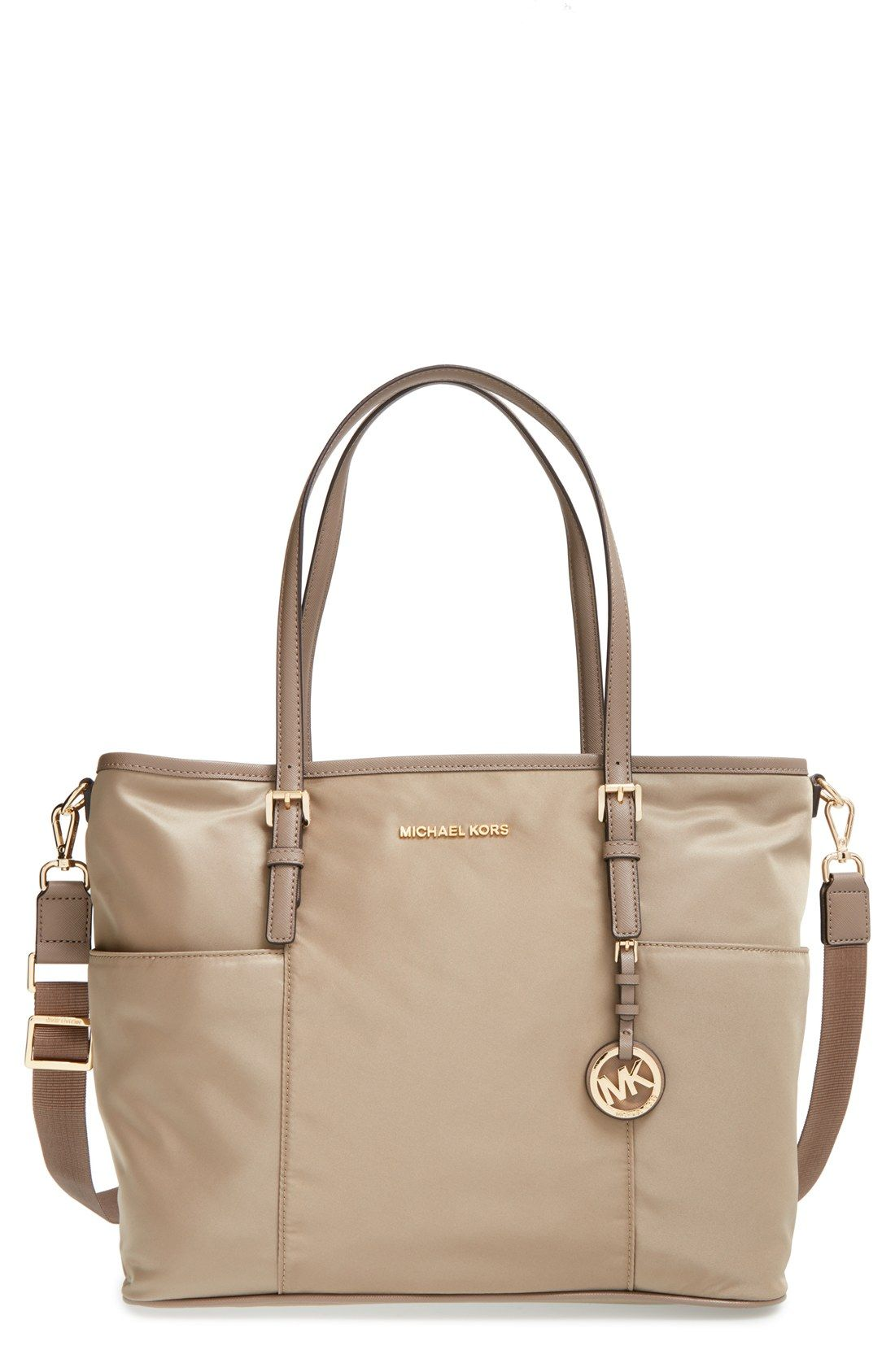 Free Shipping And Returns On Michael Kors Jet Set Large Diaper Bag At Nordstrom Raised Logo Letters Grace The Topline Of A