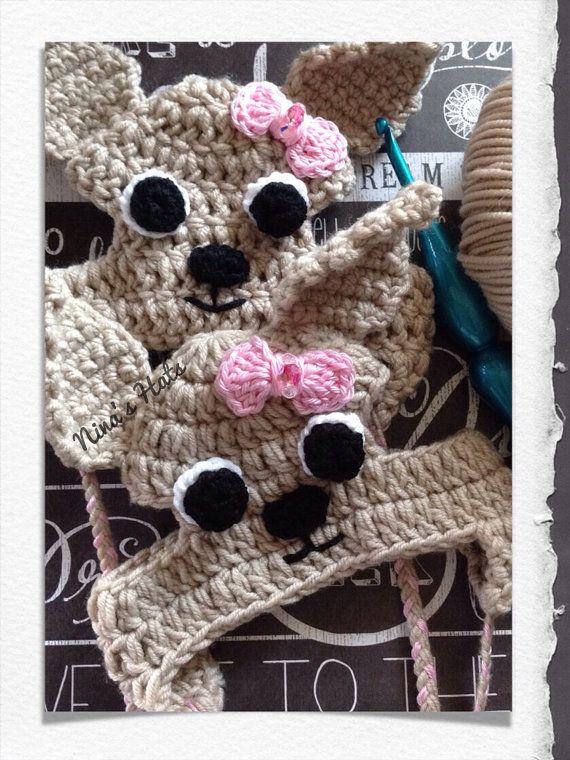 Chihuahua Dog Hat - Crochet | Hüte und Mütze