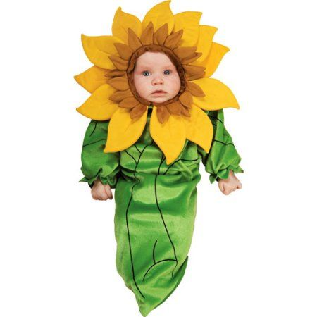 Sunflower Infant Halloween Costume, Infant Girl's, Size: 0 - 3 Months, Multicolor