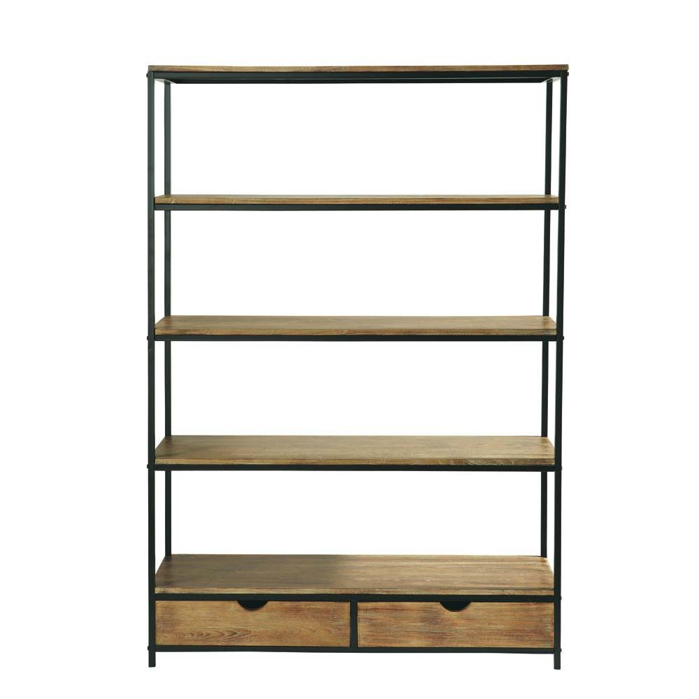 The Long Island Shelf Is A Modern Bookcase In An Industrial Style For Elegant Home Decor This Wood Will Bring Touch To Your