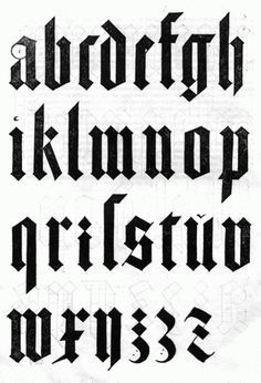 Albrecht Duhers Black Letter I Remember Leaning Over My Work Table Carefully Tracing These Letterforms In Type 1 Class There Was Something Very