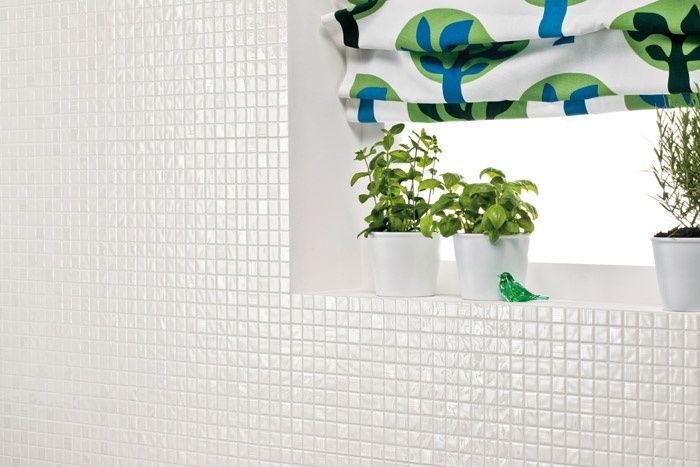Rivestimento mosaico vivace bianco piastrelle cucina atlas