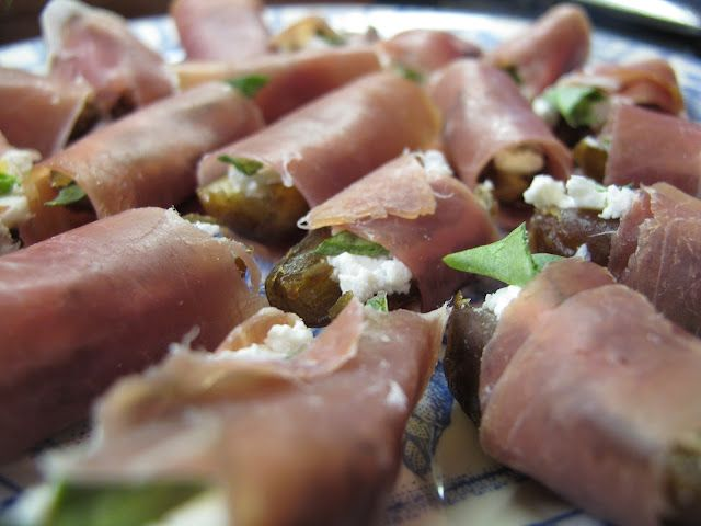 Goat Cheese Basil Prosciutto Dates