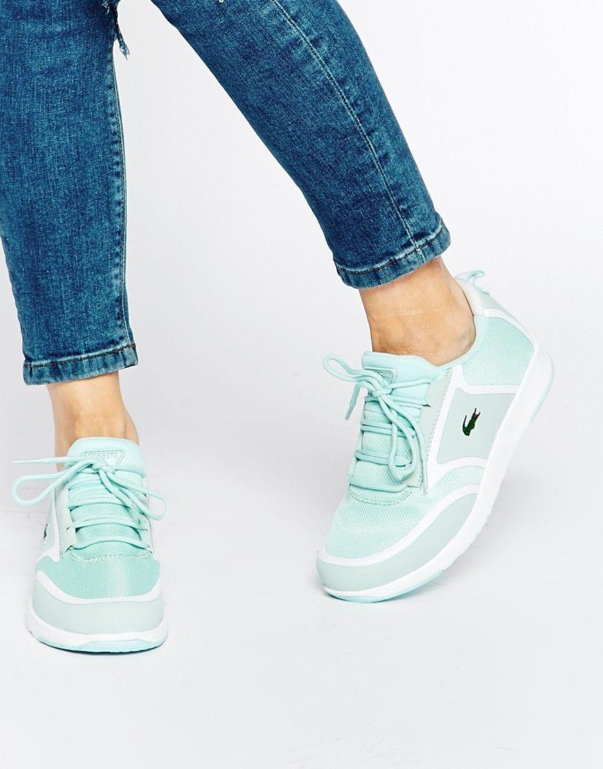 1b7c98b1a8 Lacoste Light Mint Green Sneakers | To Wear | Green trainers, Mint ...