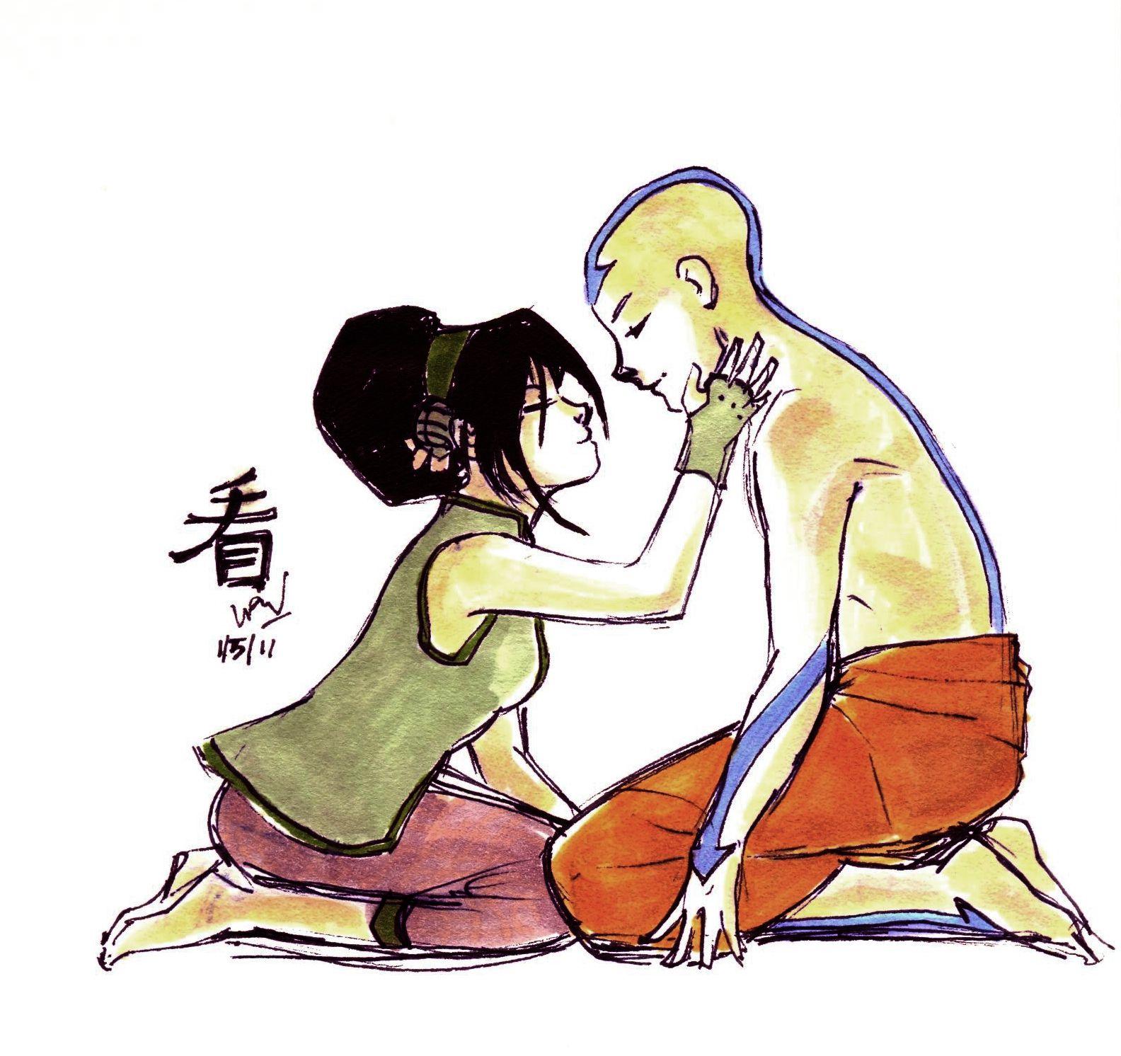 Avatar the Last Airbender - Avatar Aang x Toph Bei Fong - Look by imaginarium on deviantART