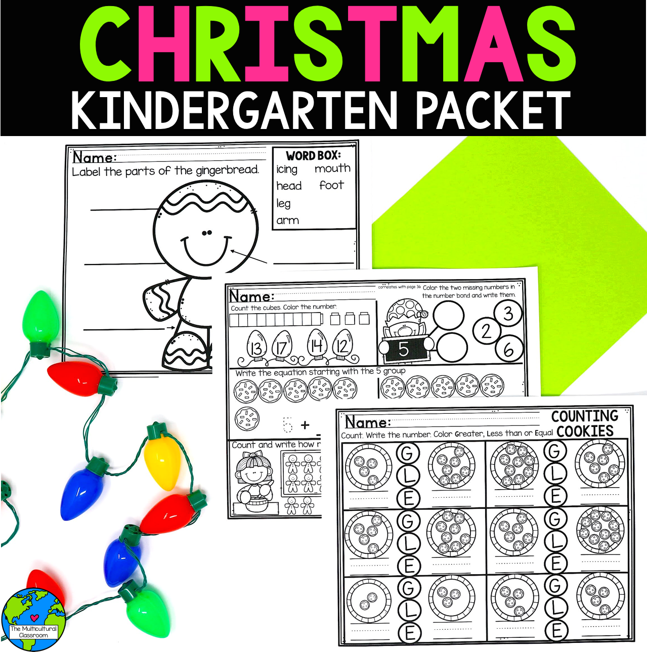Christmas Kindergarten Worksheets