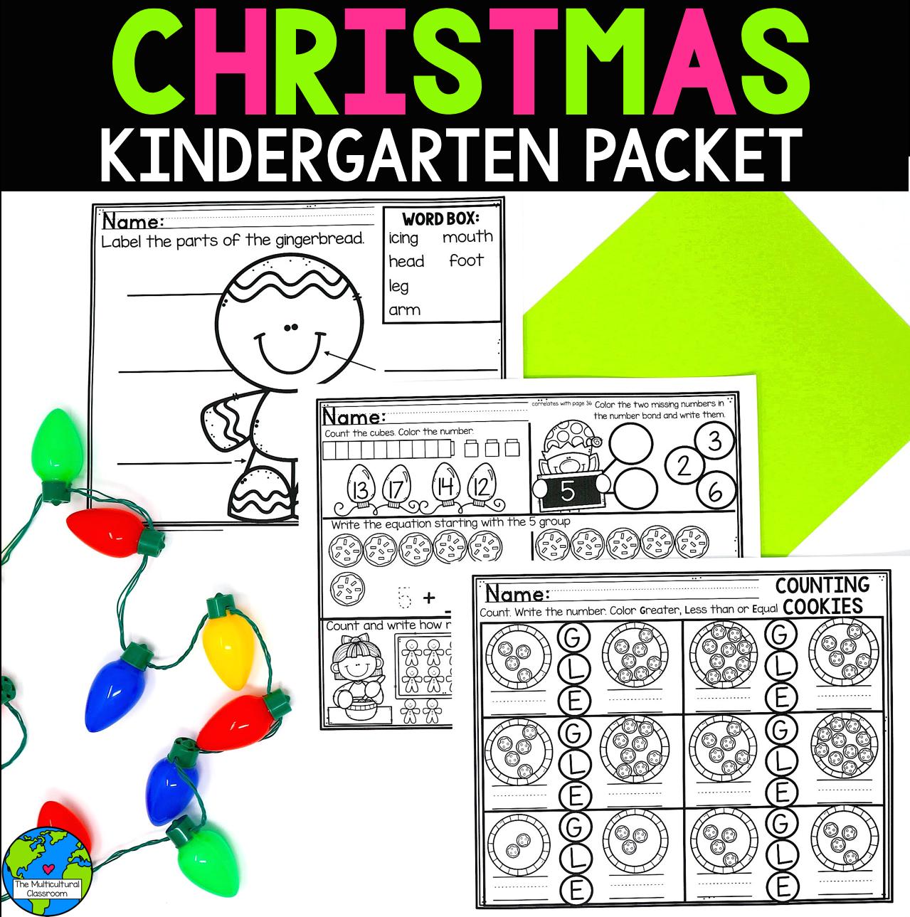 Christmas Kindergarten Worksheets Christmas Kindergarten Christmas Lesson Plan Christmas Lesson [ 1289 x 1279 Pixel ]