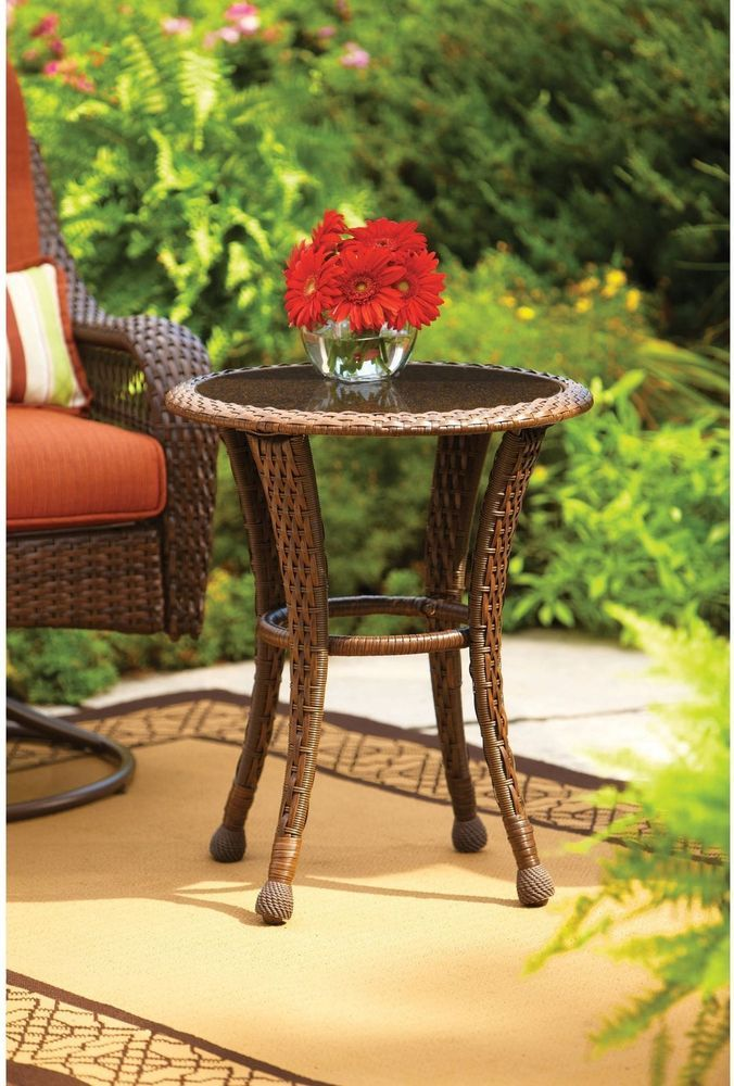 Better Homes And Gardens Small Outdoor Patio Side Table Furniture Deck  Garden | Patio Side Table, Small Outdoor Patios And Table Furniture