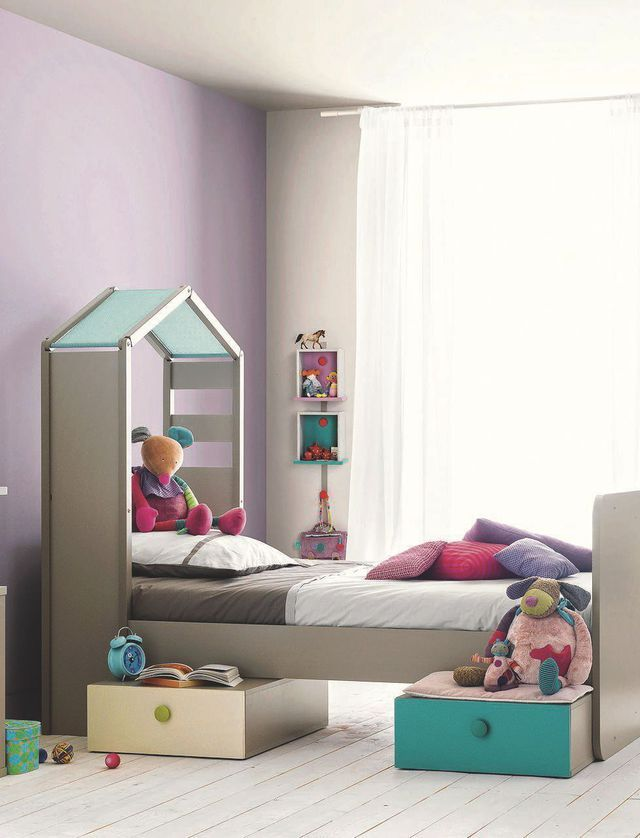 Chambres d 39 enfants d co ludique et color e baby girls decor chambre enfant lit bebe chambre - Chambre enfant coloree ...