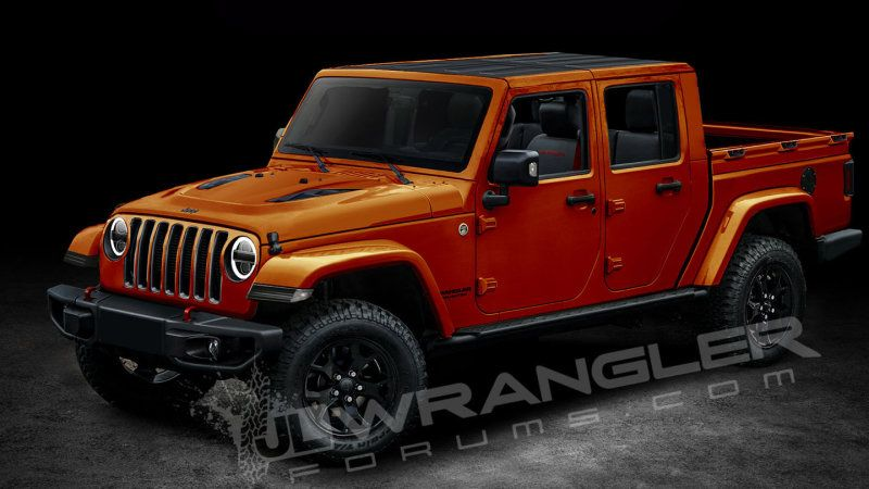 Forum Die Hards Render Upcoming Jeep Wrangler Jt Rubicon Pickup